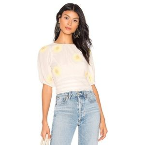Free People My Girl Embroidered Blouse sz S